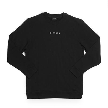 OCTAGON  META CREWNECK SWEATSHIRT - BLACK