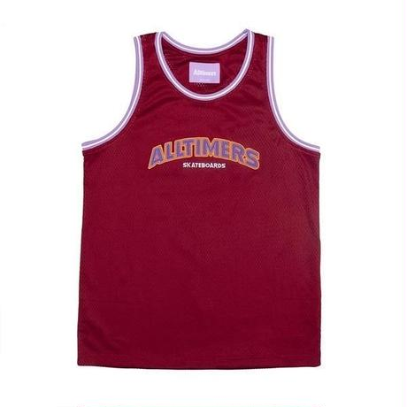 ALLTIMERS LIL' TROY BASKETBALL JERSEY BURGUNDY