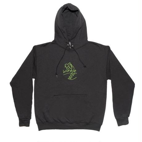 HUMBLE Flower Embroidered Logo Hoody BLK/GRN