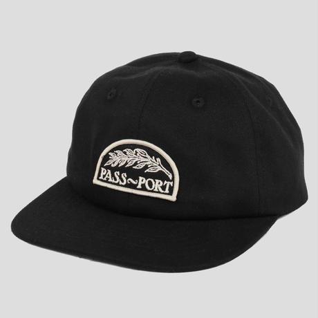 PASS~PORT QUILL PATCH 6 PANEL CAP BLACK