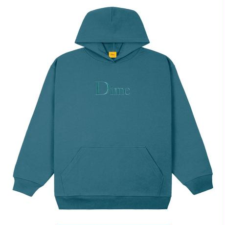DIME CLASSIC EMBROIDERED HOODIE REAL TEAL