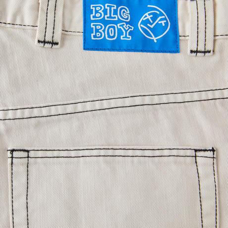 POLAR SKATE CO BIG BOY SHORTS WASHED WHITE