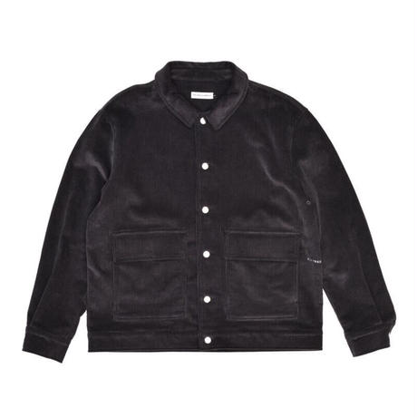 POP TRADING COMPANY FULL BUTTON SHIRT JACKET CHARCOAL