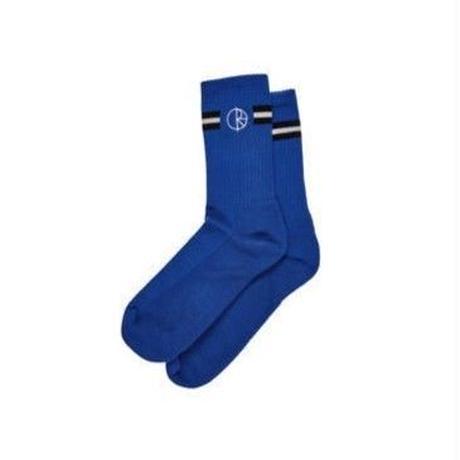 POLAR SKATE CO. STROKE LOGO SOCKS BLUE