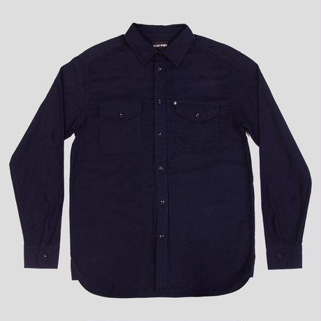 PASS~PORT - WORKERS LATE FLANNELETTE SHIRT NAVY