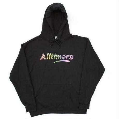 ALLTIMERS RAINBOW WATERCOLOR HOODY BLACK