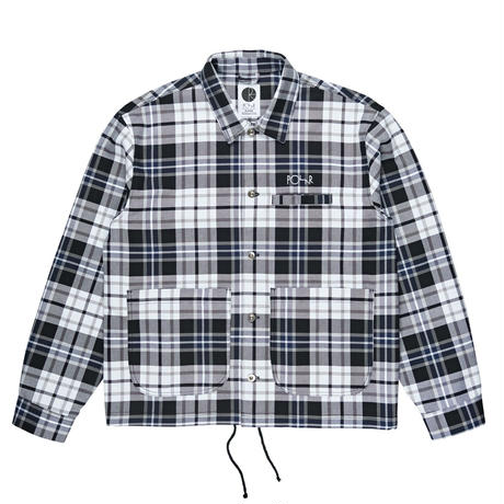 POLAR SKATE CO. PLAID WORK JKT GREY