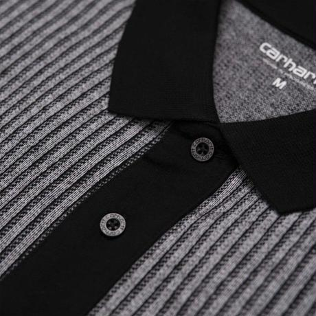 CARHARTT WIP X PASS PORT POLO - Pass Port Pin Stripe, White / Black