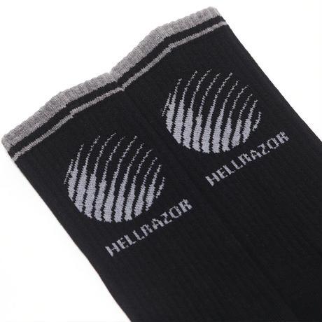 HELLRAZOR LOGO SOCKS BLACK