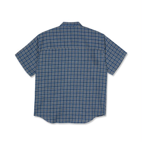 POLAR SKATE CO MITCHELL FLANNEL SHIRT BLUE