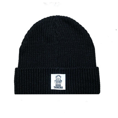 GOOD THINKING Rib Knit Beanie Black