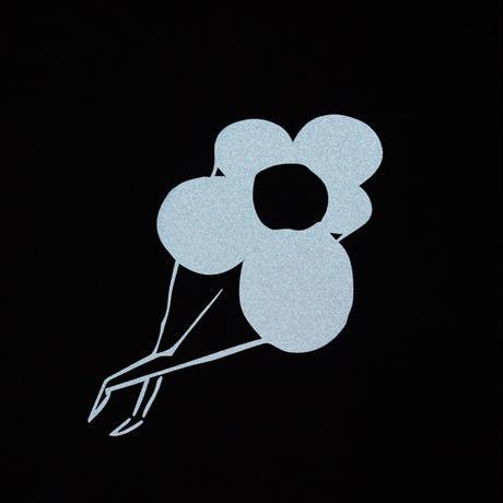 DANCER REFLECTIVE FLOWER LOGO TEE BLACK