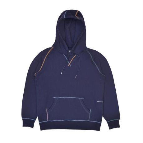 POP TRADING  COMPANY POP STITCHED LOGO HOODED SWEAT NAVY