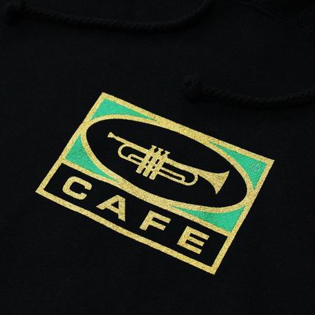 SKATEBOARD CAFE TRUMPET LOGO HOOD BLACK