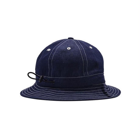 POP TRADING CO BELL HAT INDIGO DENIM