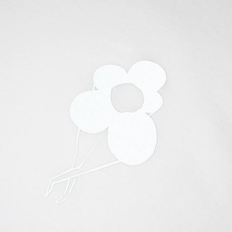 DANCER REFLECTIVE FLOWER LOGO TEE WHITE
