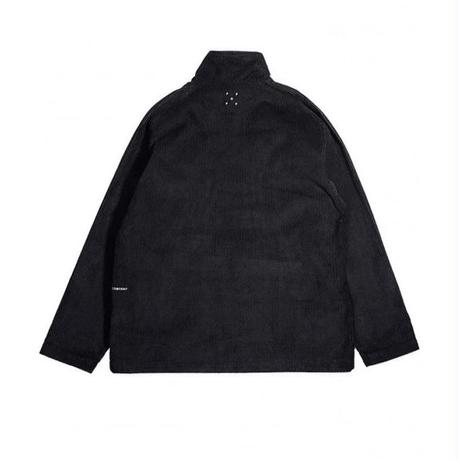 POP TRADING DRS HALFZIP JACKET BLACK CORD