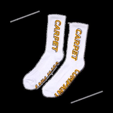 CARPET COMPANY MISPRINT SOCK WHITE
