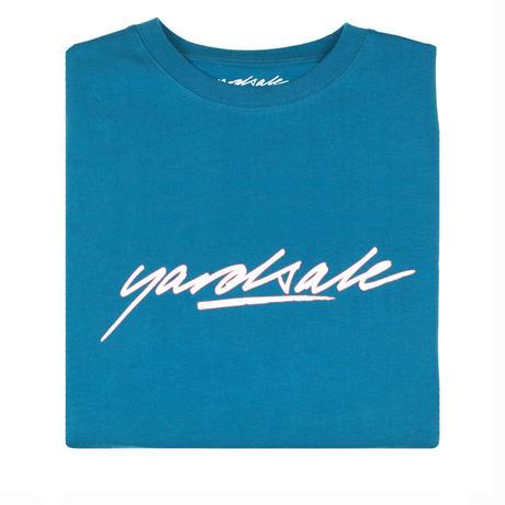 YARDSALE Script T-shirt Cyan