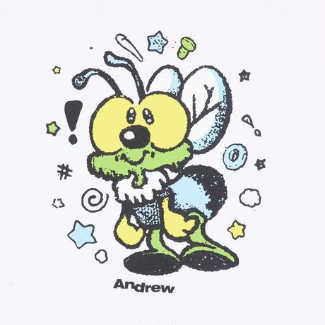 ANDREW BUG TEE WHITE