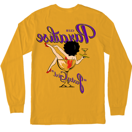 PARADISE PARTY GIRL LONG SLEEVE GOLD