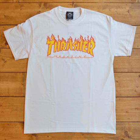THRASHER Flame Logo T-Shirt - White