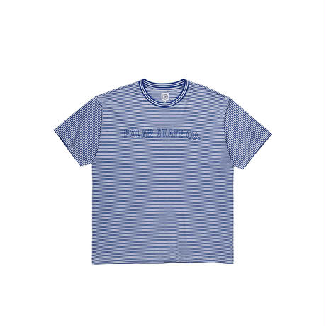 POLAR SKATE CO. OUTLINE STRIPE TEE DARK BLUE