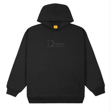 DIME CLASSIC EMBROIDERED HOODIE BLACK