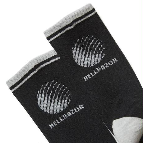 HELLRAZOR LOGO SOX - BLACK