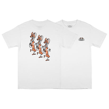"PASS~PORT ""DANCING STEPS"" TEE WHITE"