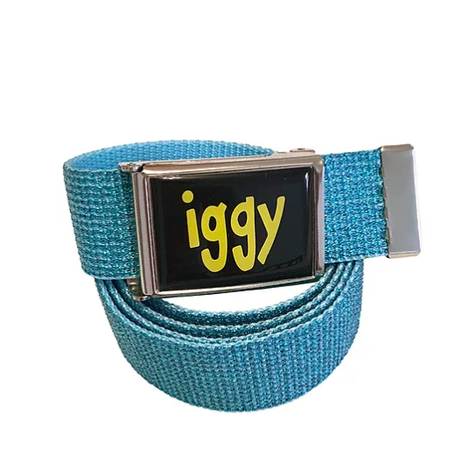 IGGY TEAL GLITTER FLIP TOP BELT