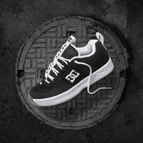 DC SHOES LYNX OG × SKATE JAWN BLACK/GREY/WHITE