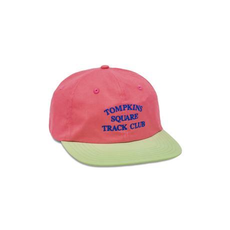 QUARTERSNACKS TRACK CLUB CAP HOT PINK/LIGHT GREEN