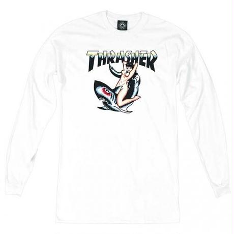 THRASHER Tattoo Long Sleeve T-Shirt  White