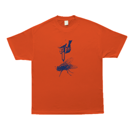 COME SUNDOWN THE FLIES S/S  TEE ORANGE