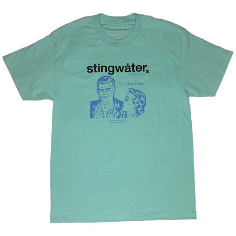 STING WATER 0.00% alc t shirt seafoam