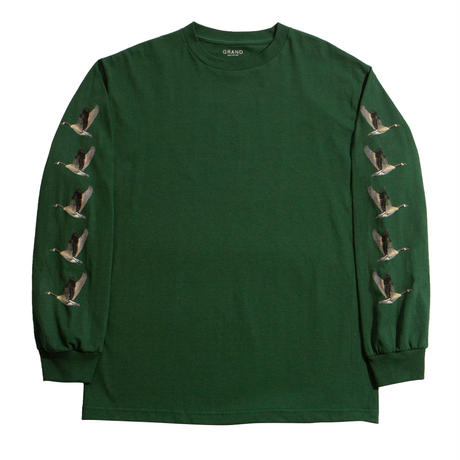 GRAND COLLECTION FLOCK LONG SLEEVE TEE FOREST