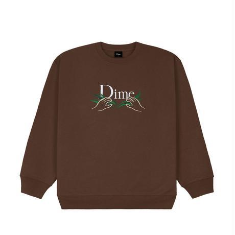 DIME CLASSIC GRASS CREWNECK STRAY BROWN