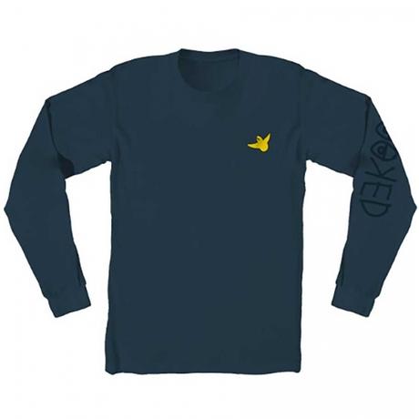 KROOKED OG BIRD EMBROIDERED PREMIUM LONGSLEEVE T-SHIRT HARBOR BLUE