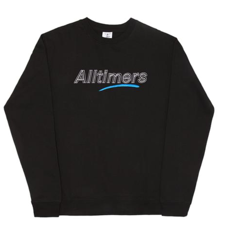 ALLTIMERS DASHED CREW BLACK