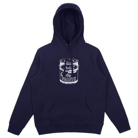 Peels Paint Can Embroidered Hoodie Navy