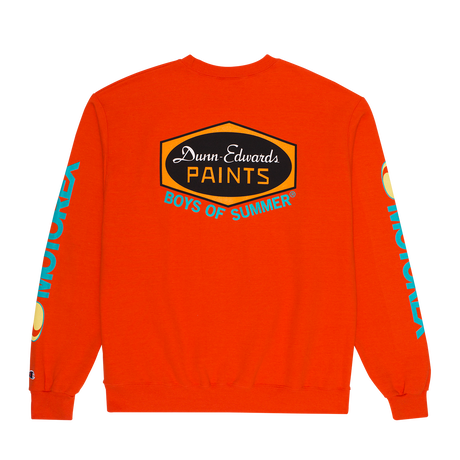 Boys Of Summer  DUNN EDWARDS CREWNECK SWEATSHIRT Orange