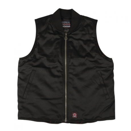 INDEPENDENT HAZARD ZIP UP VEST BLACK