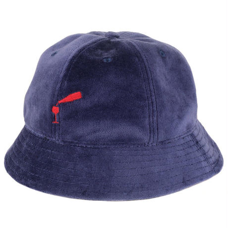 "PASS~PORT ""WINE~TIME"" FELT BUCKET CAP NAVY"