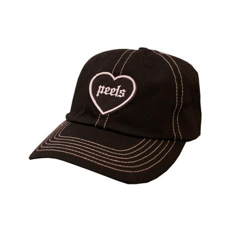 PEELS HEART HAT BLACK