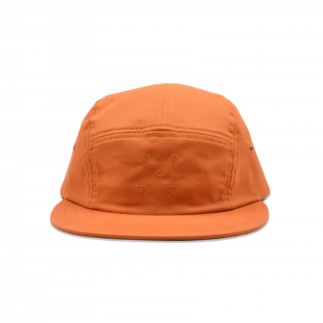 POP TRADING POP LOGO 5 PANEL HAT AMBER