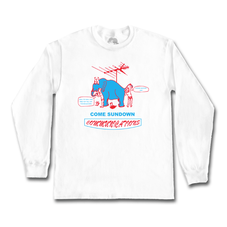 COME SUNDOWN COMMUNICATIONS L/S WHITE