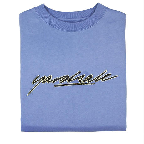 YARDSALE Script Sweatshirt Pastel Blue