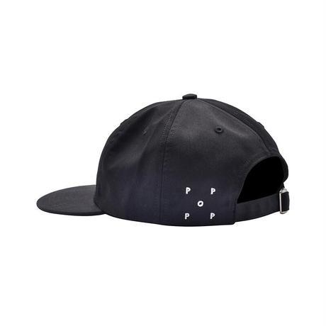 POP TRADING COMPANY ARCH LOGO 6 PANEL HAT BLACK