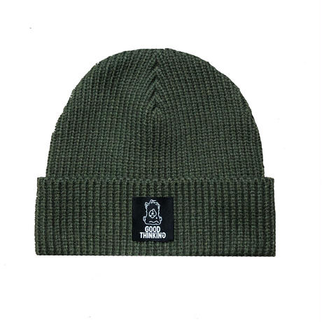 GOOD THINKING Rib Knit Beanie Olive